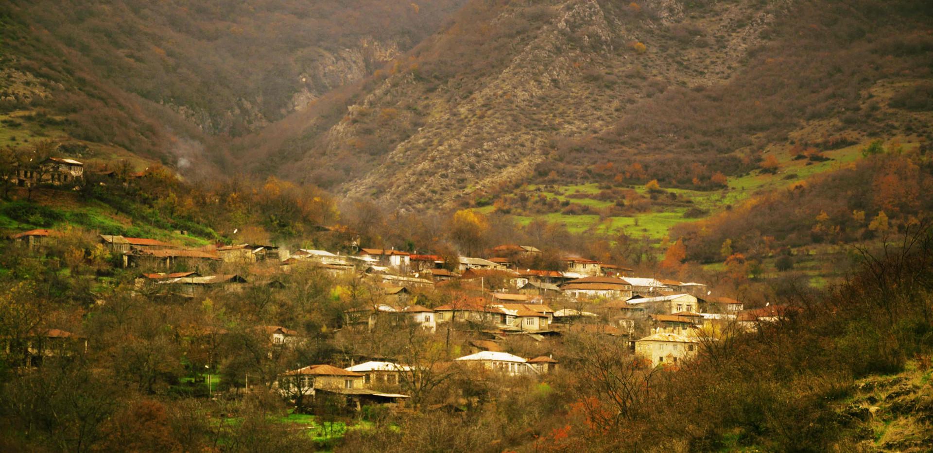 on the way to find Ararat's homestay in Azokh village