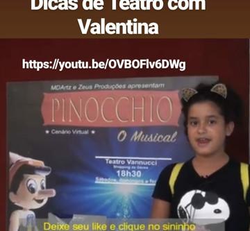 Dicas de Teatro com a Youtuber Valentina Bighetti