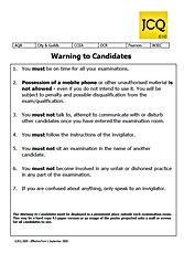 Warning To Candidates 2020.JPG