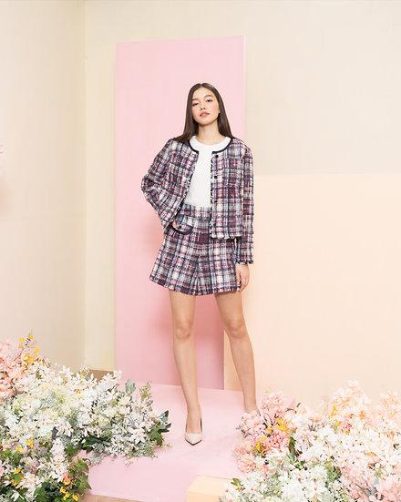 Multi color tweed jacket