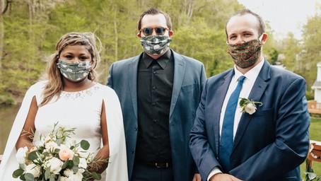 A Deck Wedding During Quarantine