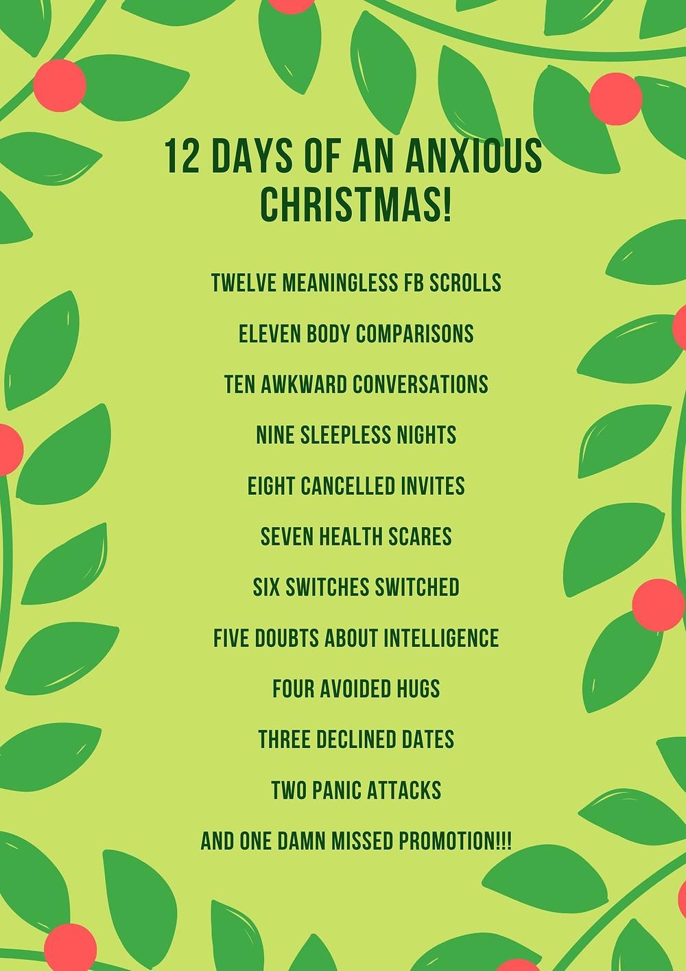 12 Days of an Anxious Xmas
