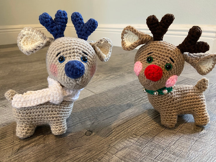 Reindeer Cuties Crochet Plush