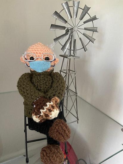 Bernie Mittens Crochet Doll