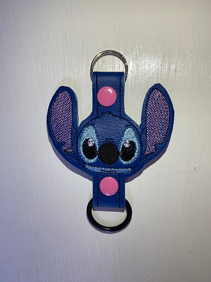 Blue Alien Water Bottle Holder