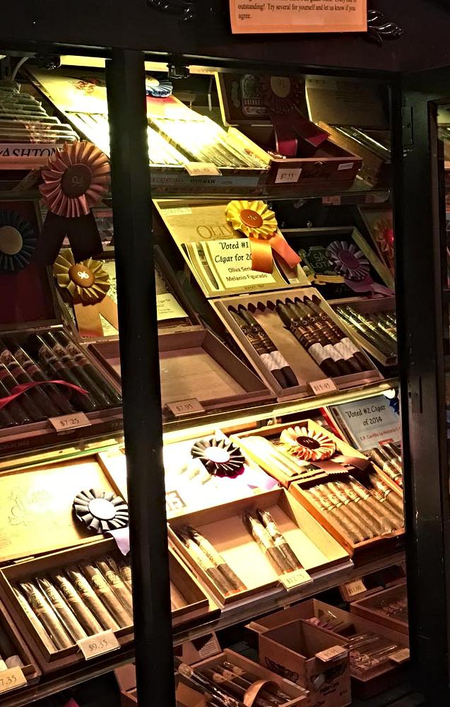 Sticks Under Glass at The Cigar Affair