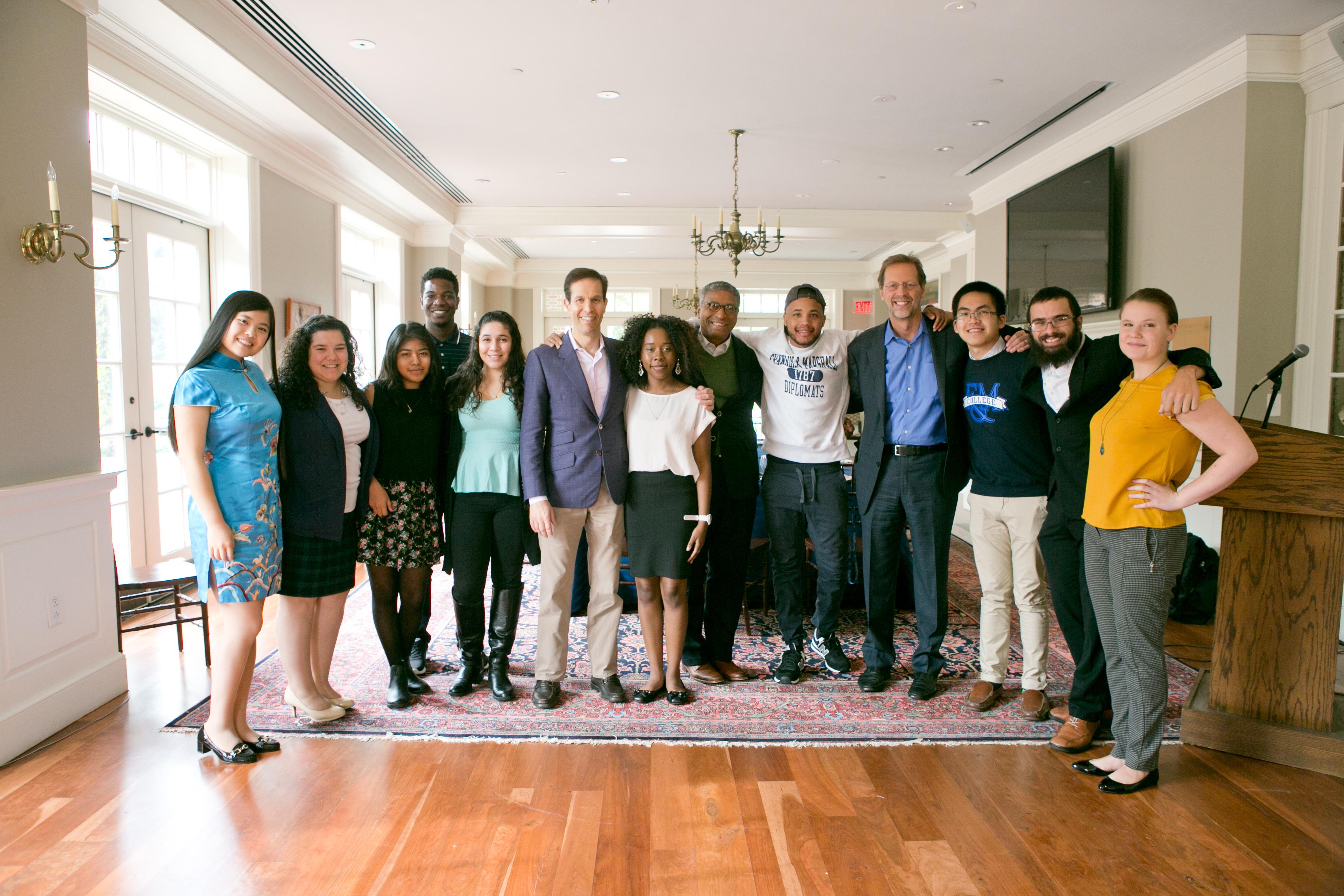Ken Mehlman with F&M Scholars