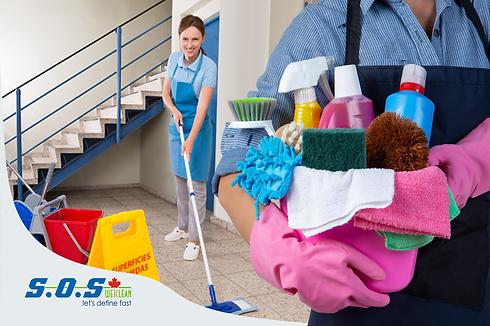 SOS We Clean - website artes - services