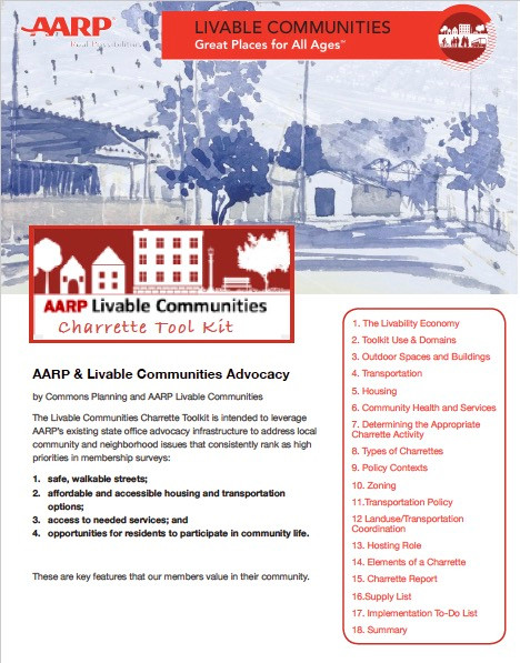 A detailed Toolkit and manual for AARP's state chapter leadership teams on organizing and hosting charretes.