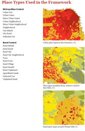 Commons developed a place-type mapping system for AARP Livable Communities Initiative. Classifying communities by place type allows the to be measured and compared, creating a basis for integrating livable community attributes into planning across many disciplines.