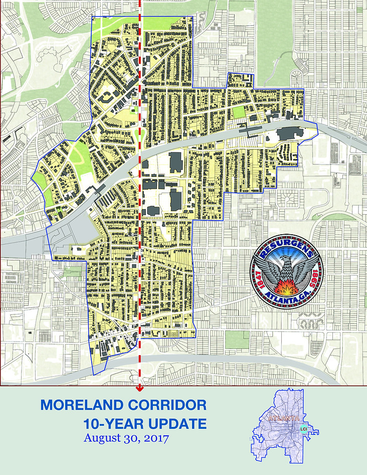 A Livable Centers Initiative study on the Moreland Corridor that will help guide the efforts of the Little 5 Points Community Improvement District, a locally organized and managed, self-taxing neighborhood commercial district in Atanta, GA.
