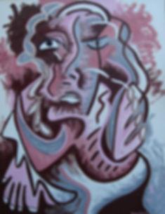 Pintura da artista plástica Raquel Reis / Raquel Reis' painting - Mulher / Woman - oil on canvas