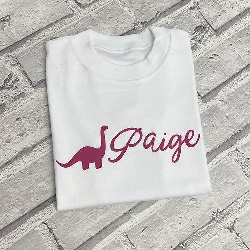 Dino Font T-Shirt