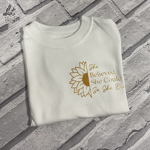 She Believed She Could- 1-2 T-Shirt