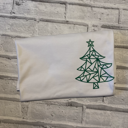 Christmas Geo Tree T-Shirt -L
