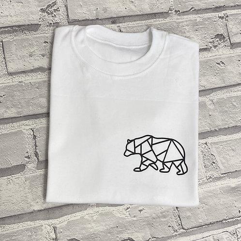 Geometric Pocket Zip Up Hoodie