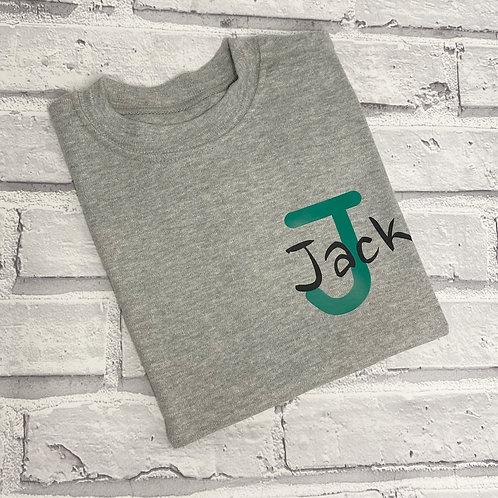 Initial Name Pocket Sweater