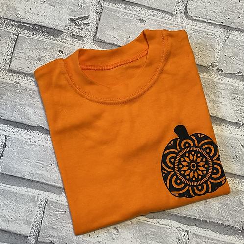Pumpkin Mandela  T-Shirt - 2-3y
