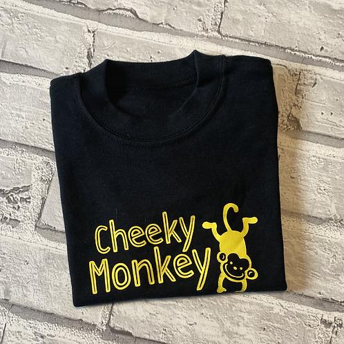 Cheeky Monkey T-Shirt - 6-12m