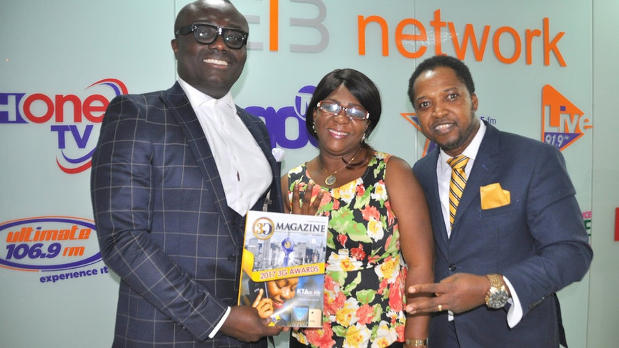 Bola Ray of EIB with Nanayaa and Mr. CNN