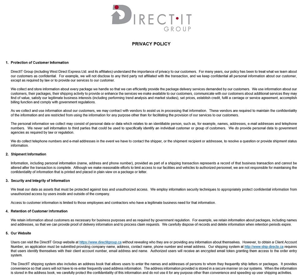 Privacy Policy v 3 - DB-DR FINAL - DIREC