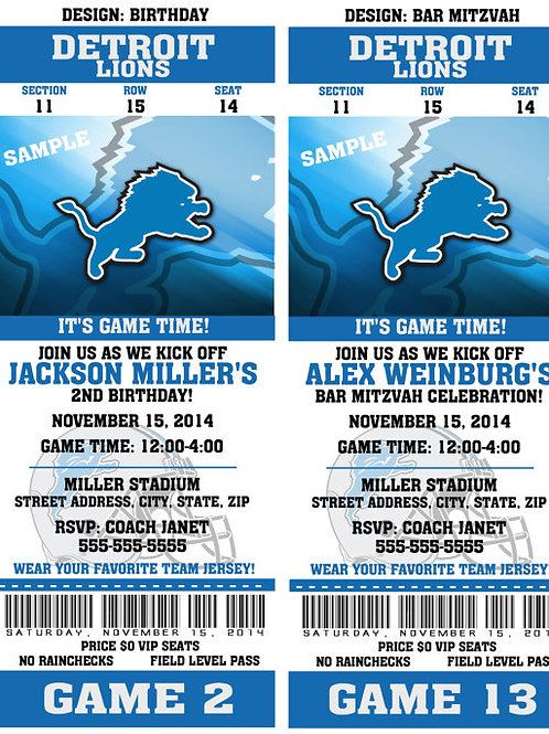 2 Detroit Lions Tickets