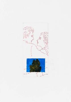 Lovers-et-cypres, 1992, 11x8po