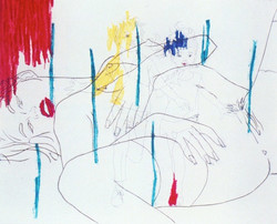Souvenirs d'enfance, 2000, etching with sugar lift and soft ground, 18x15, Edition40