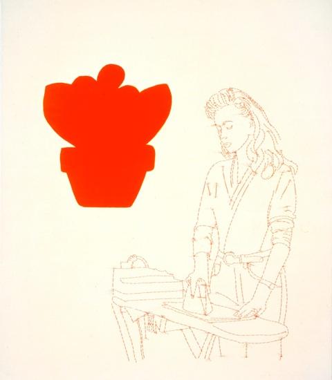 La Femme qui repasse, 1992, 39x33po