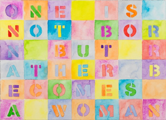 One is not Born 1 - 2013, watercolor on paper, 10,25 x 14,2 in, 26 x 35,9 cm