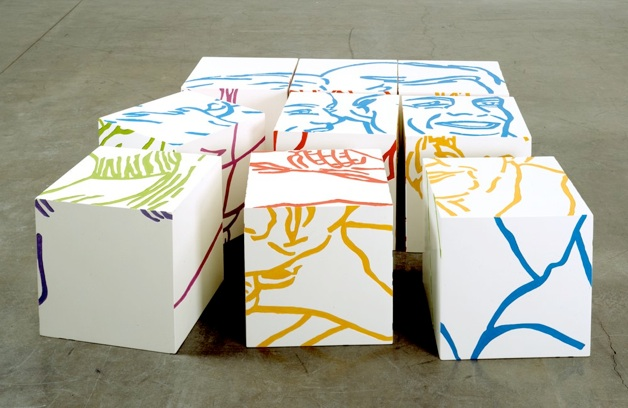 Les Poufs, 2002, polyurethane and acrylic, 47,2 x 47,2 x 15,5 in view2
