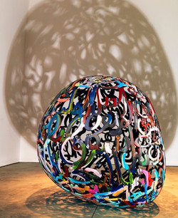 """100 Words of Love, 2011,edition 1 of 2, epoxy resin and acrylic, 67""""X72""""X67 3_4"""""""