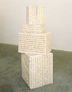 Encyclopedia of Pleasure (detail), 2001, embroidery on cotton duck, dimensions variable