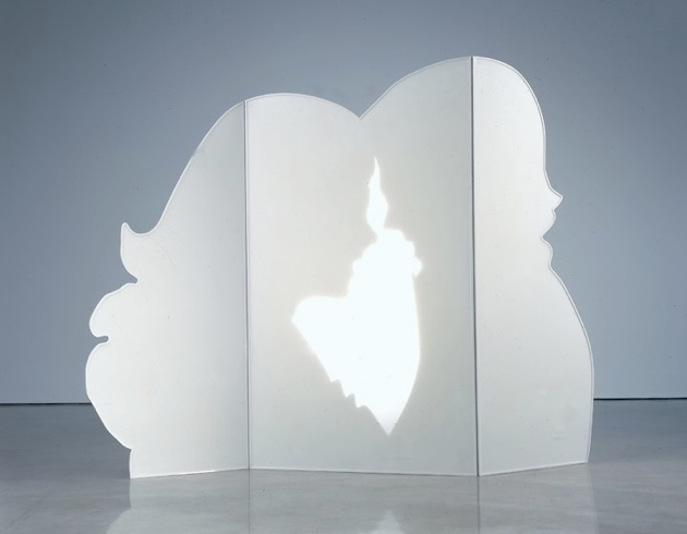 The Screen, 1992-2004, Acrylic, epoxy and aluminum powder, 65 x 77 x 12 in