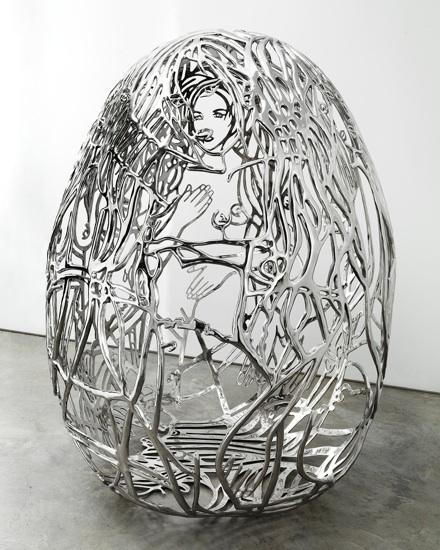 The Blue Bra Girls, 2011, Stainless steel