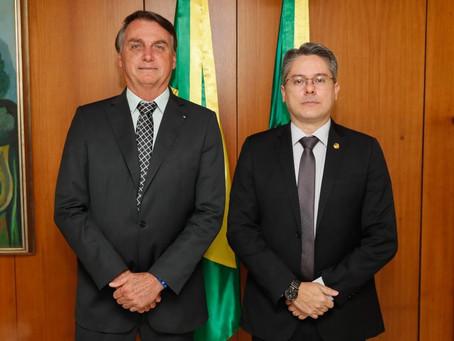 Com foco em Sergipe, senador Alessandro se reúne com presidente Bolsonaro