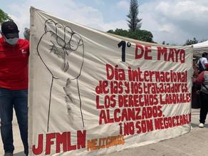 SALVADOREÑOS CONMEMORAN EL DÍA INTERNACIONAL DE LA CLASE TRABAJADORA