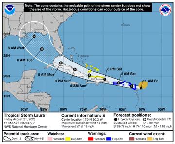 Es posible que la próxima semana haya dos huracanes en el Golfo de México al mismo tiempo.