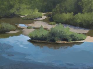 Îlots sur la rivière Ouareau