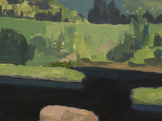 Pink rock in the Mastigouche river