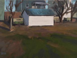 Garage blanc