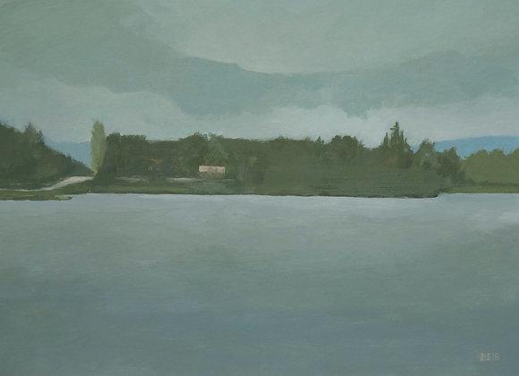 Lac boucané, après la pluie