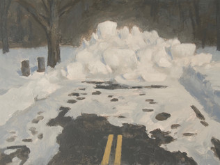 Snowbank, end of road