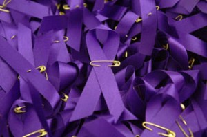 Wear a purple ribbon