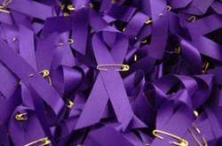 Wear a purple ribbon
