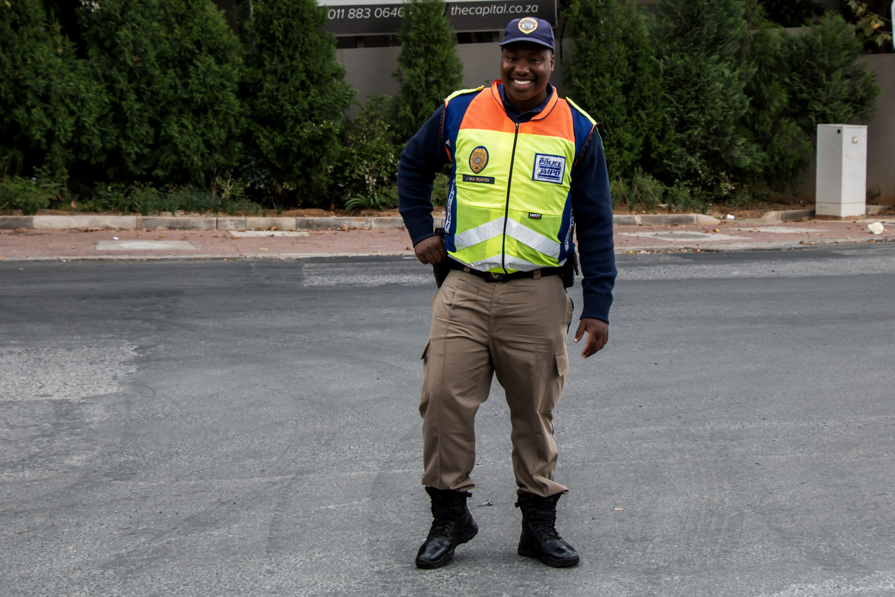 All smiles from JMPD