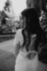 Chelsea Jessop photography Natural light bridal photo detail dress shot black and white