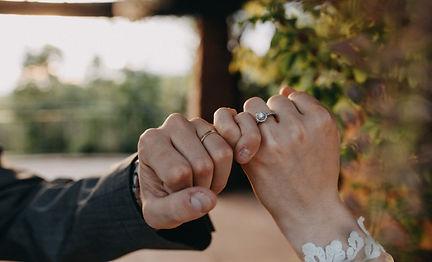 Chelsea Jessop photography Natural light bridal photo pinkey promise ring close up