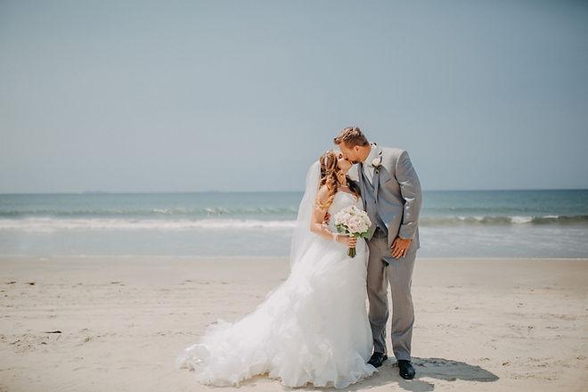 Chelsea Jessop photography Natural light bridal photo kissing on beach