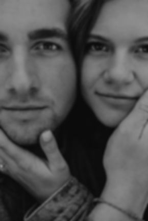 Chelsea Jessop photography engagement picture; black and white close up faces